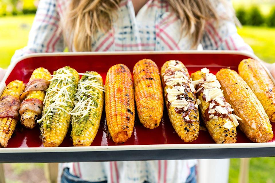 "<p>We've got six ways to top it, so you'll never get bored.</p><p>Get the recipe from <a href=""https://www.delish.com/cooking/g3413/grilled-corn-ideas/"" rel=""nofollow noopener"" target=""_blank"" data-ylk=""slk:Delish"" class=""link rapid-noclick-resp"">Delish</a>.</p>"