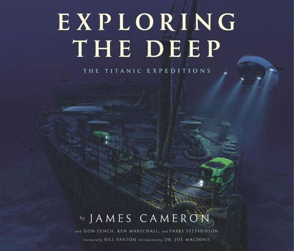 """Exploring the Deep: The Titanic Expeditions"" is a richly illustrated book that tells the story of James Cameron's many dives to the ship, featuring many previously unpublished photos from within the wreckage."