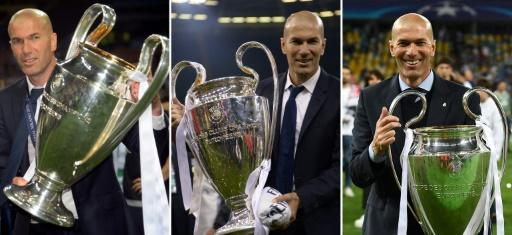 Zidane is the only coach in history to have won three Champions League titles in a row