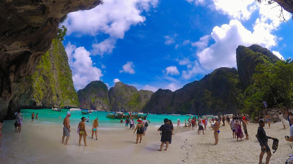Thailand's idyllic beaches are under increasing strain from huge numbers of tourists and accompanying development in remote and fragile ecosystems.