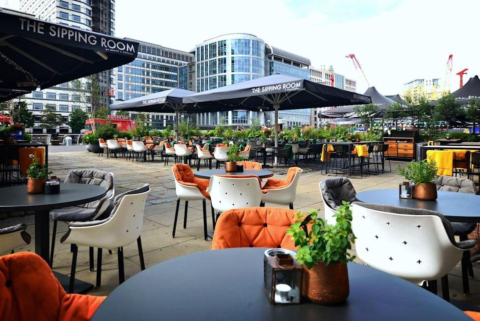 <p>The Thameside terrace of the Sipping Room offers calming views, summer vibes and creative cocktails from its dedicated outdoor bar. With the British weather known to have let us down in the past, blankets and hot water bottles are also available should they be needed.</p>