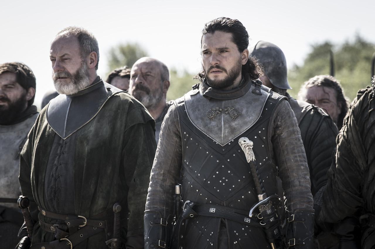"<p><strong>WARNING: <em>Game of Thrones</em> spoilers ahead.</strong></p><p>The war scenes in <em>Game of Thrones</em> did not end with the Battle of Winterfell. Next week, viewers are in for a vicious face-off with Queen Cersei in King's Landing and newly-released photos from HBO show just how rough it'll be. </p><p>We last left off with the Queen of the Seven Kingdoms pushing Daenerys Targaryen to her breaking point as she beheaded her advisor <a href=""https://www.harpersbazaar.com/culture/film-tv/a27368694/game-of-thrones-season-8-missandei-death/"" target=""_blank"">Missandei</a> (RIP) and sent Euron Greyjoy to take out <a href=""https://www.harpersbazaar.com/culture/film-tv/a27369061/rhaegal-death-game-of-thrones-season-8-episode-4/"" target=""_blank"">another one of her dragons</a>. The episode ended with Dany practically steaming from the ears with rage, leading viewers to believe she's <a href=""https://www.harpersbazaar.com/culture/film-tv/a27369608/game-of-thrones-daenerys-mad/"" target=""_blank"">about to go ""mad""</a> like her father. Emboldened by her fury, Dany could make some rash decisions in next week's battle. </p><p>We also have Jaime to look out for, who just left Winterfell after hooking up with Brienne of Tarth to reunite with his sister, and Arya, who's riding south with the Hound. Will the Kingslayer be the one to kill Cersei? Or will it be No One? Meanwhile, Jon is also riding down with the rest of the Northern army. There's a lot going on. </p><p>Scroll ahead of a peek of the next episode (the penultimate episode of <em>Game of Thrones</em>!) and watch the battle on Sunday night on HBO at 9 P.M. ET. </p>"