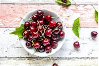 """<p>Like strawberries and blueberries, <a href=""""https://www.prevention.com/food-nutrition/healthy-eating/a19731186/benefits-of-cherries/"""" rel=""""nofollow noopener"""" target=""""_blank"""" data-ylk=""""slk:cherries"""" class=""""link rapid-noclick-resp"""">cherries</a> are chock-full of protective phytochemicals. """"These biologically active compounds can target key areas in the development of cancerous cells,"""" Dr. Mandal notes. And indeed, eating them regularly can help lower markers of oxidative stress and inflammation, a <a href=""""https://dx.doi.org/10.3390%2Fnu10030368"""" rel=""""nofollow noopener"""" target=""""_blank"""" data-ylk=""""slk:major review"""" class=""""link rapid-noclick-resp"""">major review</a> found.</p><p><strong>Try it: </strong><a href=""""https://www.prevention.com/food-nutrition/recipes/a22998801/cherry-chocolate-granola-bars-recipe/"""" rel=""""nofollow noopener"""" target=""""_blank"""" data-ylk=""""slk:Cherry Chocolate Granola Bars"""" class=""""link rapid-noclick-resp"""">Cherry Chocolate Granola Bars</a></p>"""
