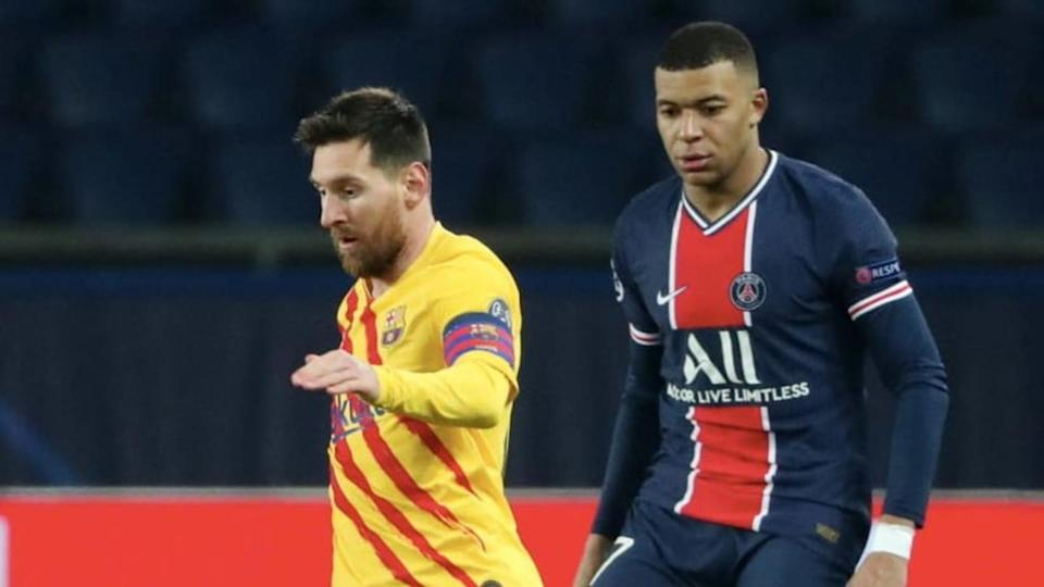 Kylian Mbappe, Lionel Messi | Xavier Laine/Getty Images