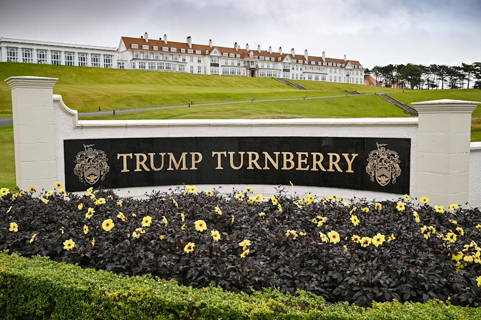A general view of Trump Turnberry Golf Club in Scotland