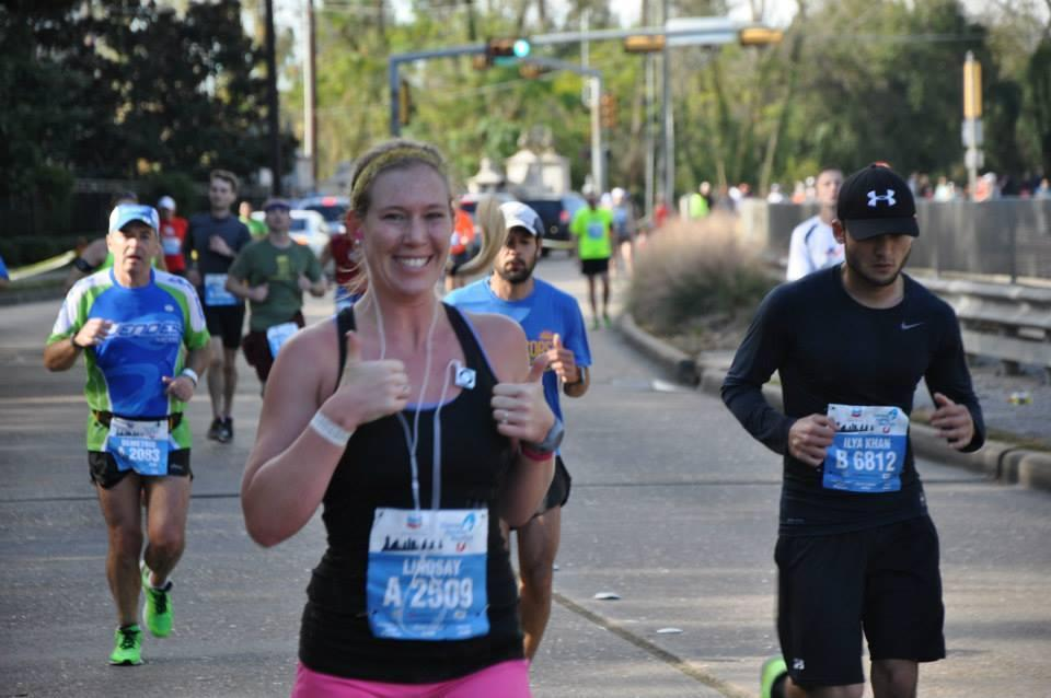 <p>I run marathons because I love the mental and physical challenge. I was a competitive swimmer throughout college, and when I graduated I needed another goal to strive for. More recently, my dad started running and it's been phenomenal bonding for us.</p><p><i>—Lindsay McClelland, 28, Houston, Texas. Houston Marathon ambassador, running her 10th marathon at the New York Marathon on Nov. 1.</i></p>