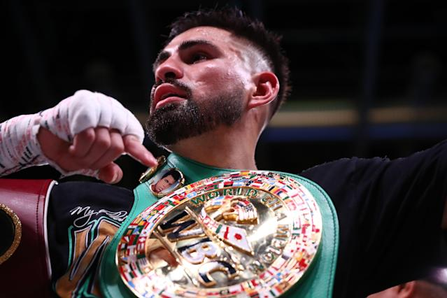 WBC-WBO super lightweight champion Jose Ramirez's title defense that had been scheduled for Feb. 2 in Haikou, China, against Viktor Postol has been postponed because of the Wuhan coronavirus outbreak. It has not yet been rescheduled. (Photo by Ronald Martinez/Getty Images)