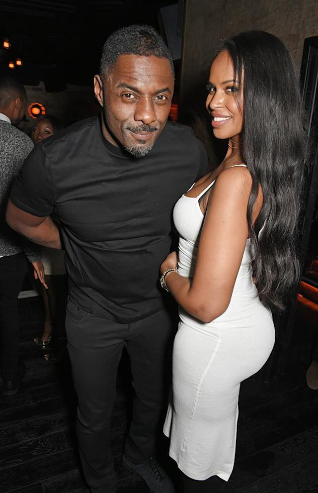 """<p>The <em>Luther </em>star went public with his new girlfriend, a former Miss Vancouver Sabrina Dhowre, earlier this year. The pair met while he was shooting <em>The Mountain Between Us </em>in Canada. Things must be getting serious as Elba just <a href=""""https://www.yahoo.com/lifestyle/idris-elba-introduces-girlfriend-prince-044714729.html"""" data-ylk=""""slk:introduced his girlfriend;outcm:mb_qualified_link;_E:mb_qualified_link"""" class=""""link rapid-noclick-resp"""">introduced his girlfriend</a> to Prince Charles. (Photo: David M. Benett/Dave Benett/Getty Images) </p>"""