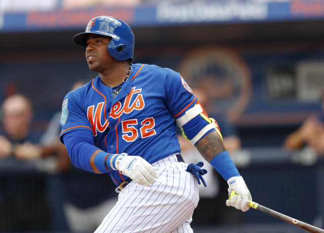 New York Mets outfielder Yoenis Cespedes should outperform his fantasy draft slot. (AP Photo/John Bazemore)