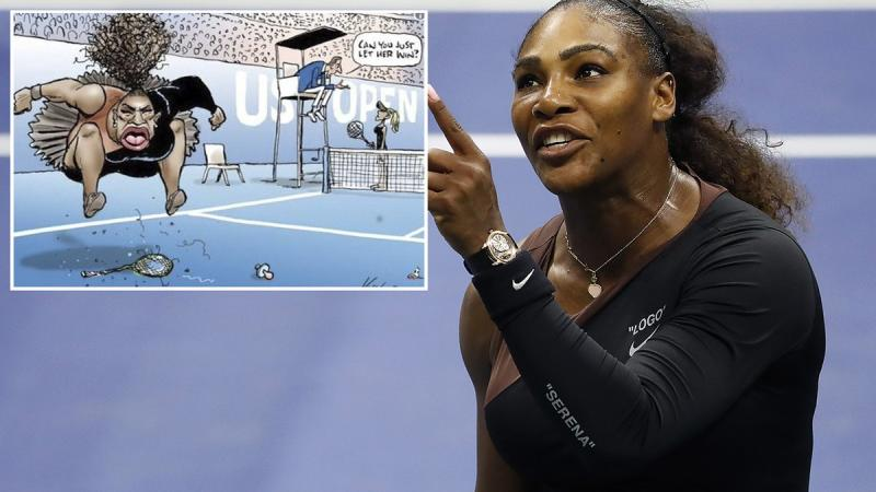 Shocking 'death threat' development over 'racist' Serena cartoon