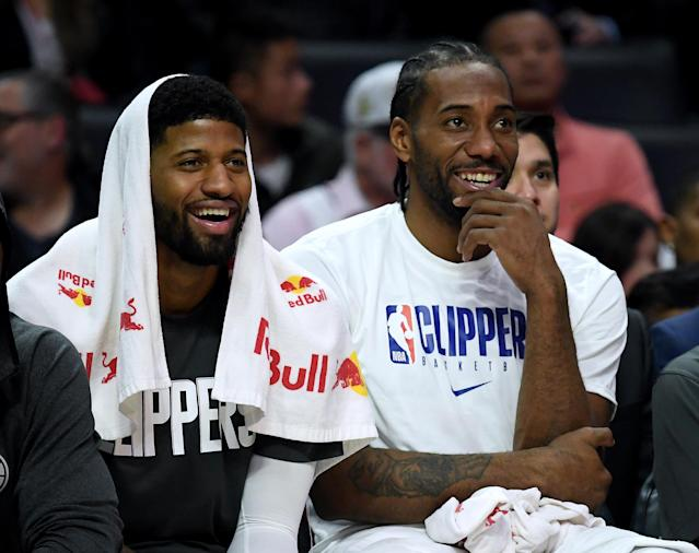 Rest should do nothing but good things for Paul George and Kawhi Leonard. (Harry How/Getty Images)