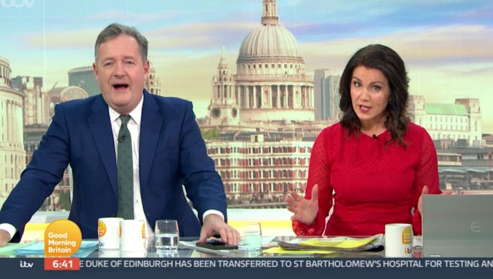 Things got very heated very quickly between the GMB hosts (Photo: ITV)