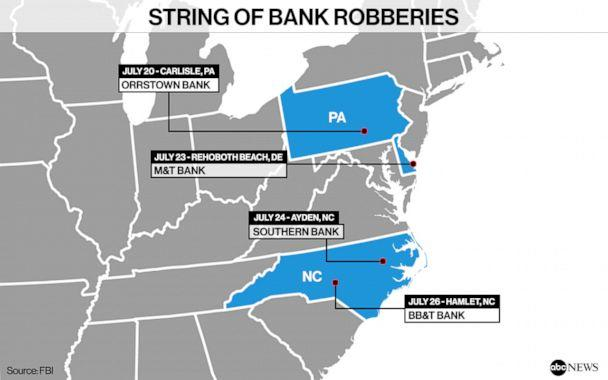 PHOTO: String of Bank Robberies (ABC Photo Illustration)