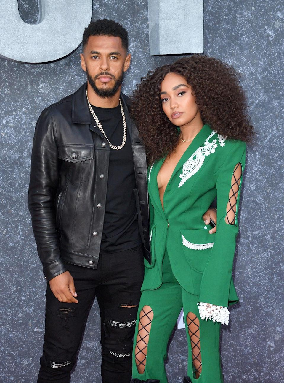 LONDON, ENGLAND - SEPTEMBER 04: Andre Gray and Leigh-Anne Pinnock attend the