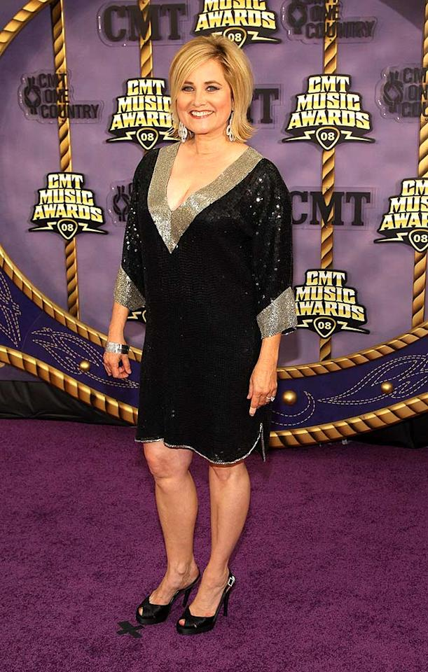"""Maureen McCormick (aka Marcia Brady) served as """"Access Hollywood's"""" red carpet correspondent and reportedly picked this sparkly frock in an attempt to impress her country crush, Billy Ray Cyrus. Stephen Lovekin/<a href=""""http://www.gettyimages.com/"""" target=""""new"""">GettyImages.com</a> - April 14, 2008"""