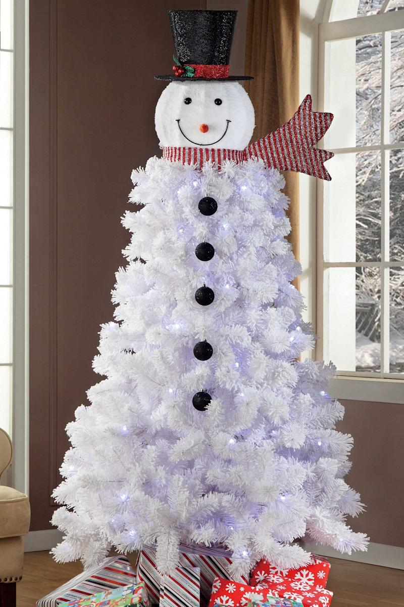 the pre made tree available at walmart only requires minimal assembly while the topper can be added to any tree small or large fresh or faux - Walmart Small Christmas Tree