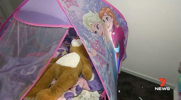 The couple's young daughter was asleep in the room next door. Picture: 7 News
