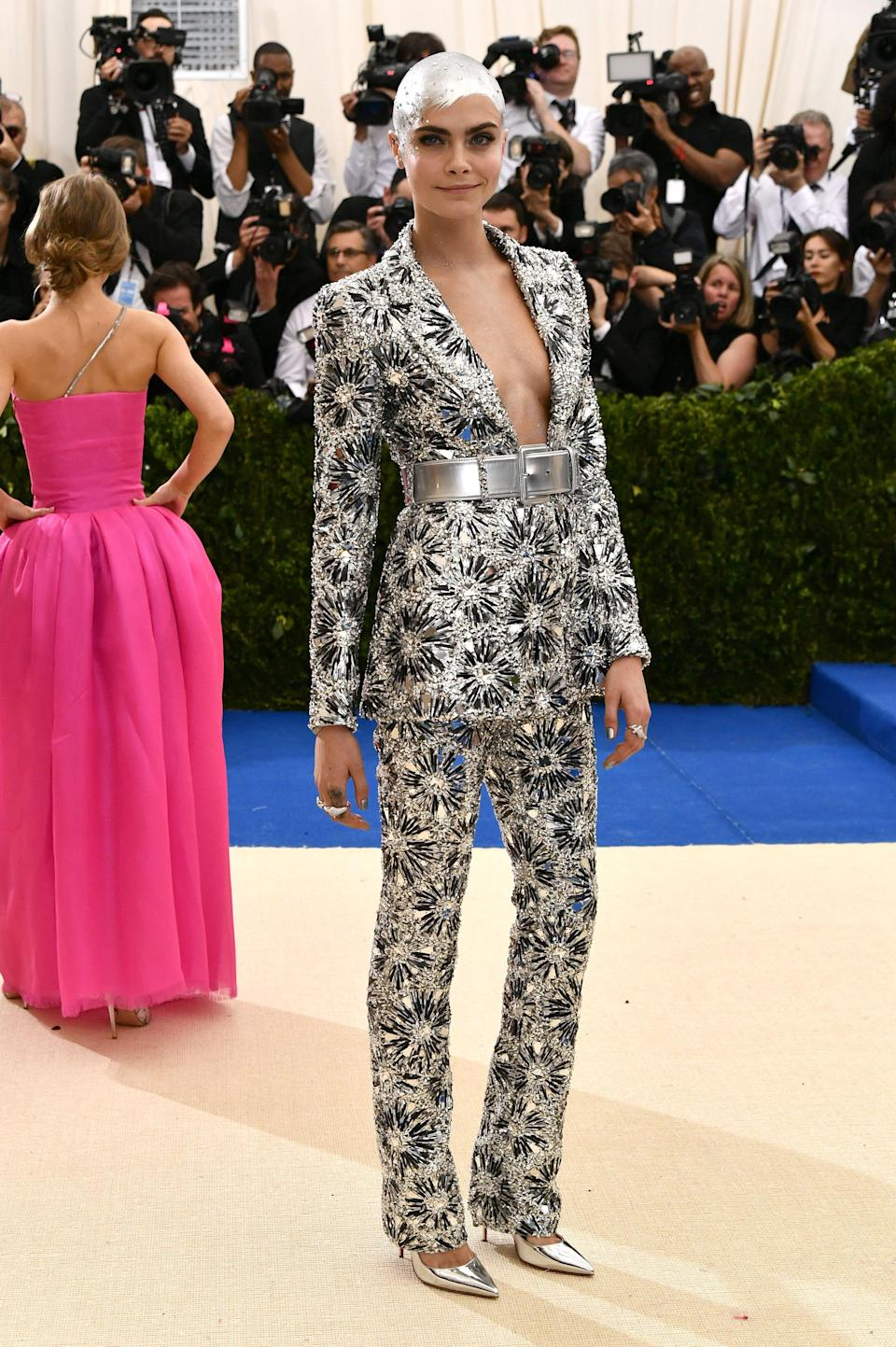 """<h1 class=""""title"""">Cara Delevingne in Chanel and Christian Louboutin shoes</h1> <cite class=""""credit"""">Photo: Shutterstock</cite>"""