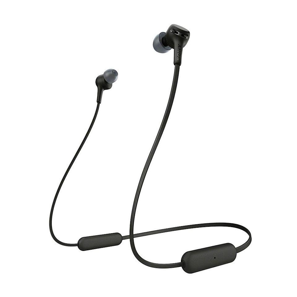 """<p><strong>Sony</strong></p><p>amazon.com</p><p><strong>$58.00</strong></p><p><a href=""""https://www.amazon.com/dp/B07WNXS613?tag=syn-yahoo-20&ascsubtag=%5Bartid%7C2089.g.2100%5Bsrc%7Cyahoo-us"""" rel=""""nofollow noopener"""" target=""""_blank"""" data-ylk=""""slk:Shop Now"""" class=""""link rapid-noclick-resp"""">Shop Now</a></p><p>The Bose brand is music to anyone's ears! Give the gift of impeccable sound with these in-ear headphones. They're lightweight, durable, and feature up to 15 hours of battery life, so your recipient can jam out from dawn until dusk.</p>"""