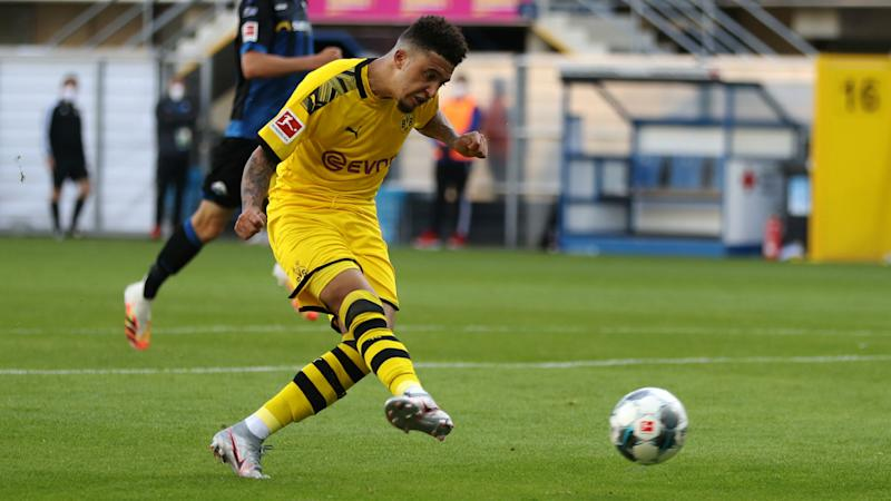 Sancho makes a statement as Dortmund end difficult week on a high