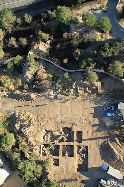 The excavation site in southwestern Jerusalem where archaeologist found the seal.