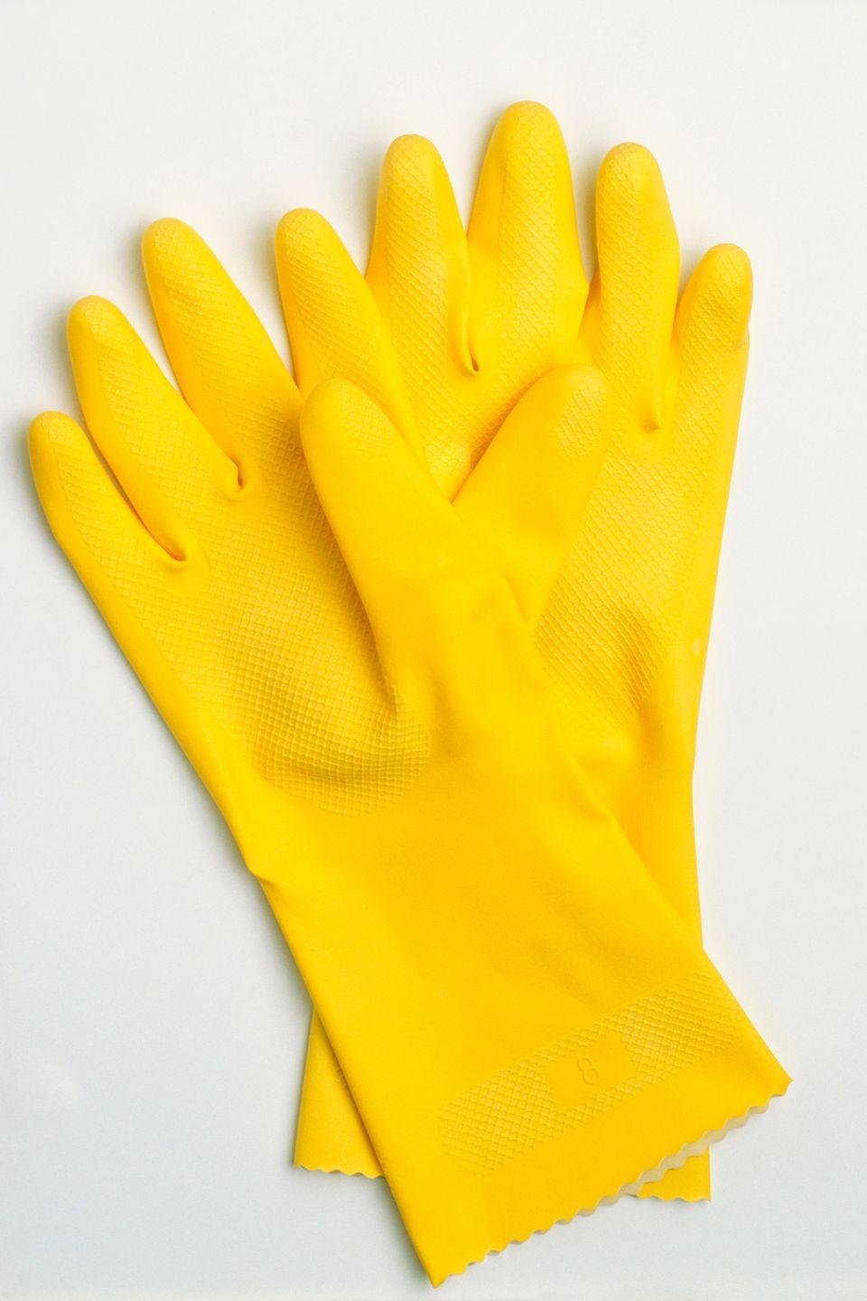 <p>Protecting your hands from harsh cleaning chemicals can cost up to 15 times more at popular retailers. Opt for the cheaper version, available at dollar stores across the country, instead. </p>