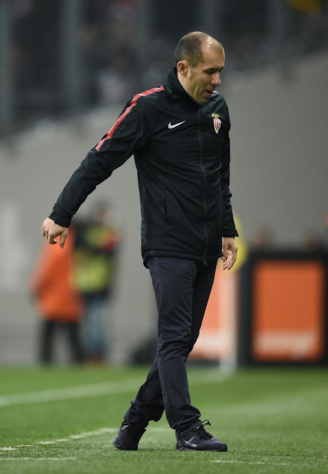 Soccer Football - Ligue 1 - Toulouse vs AS Monaco - Stadium Municipal de Toulouse, Toulouse, France - February 24, 2018 Monaco coach Leonardo Jardim looks dejected after the match REUTERS/Fred Lancelot