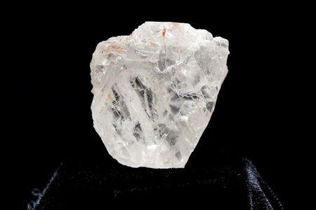 "FILE PHOTO: The 1109 carat ""Lesedi La Rona"" diamond is displayed in a case at Sotheby's in the Manhattan borough of New York"