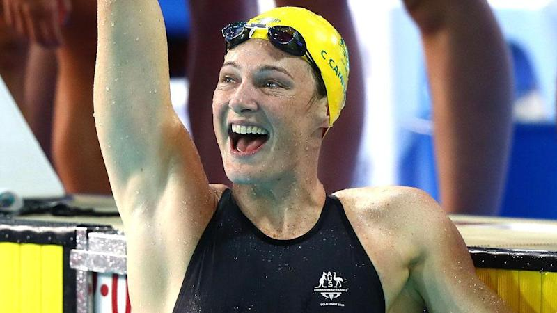 Cate Campbell's moment of triumph. Pic: Getty
