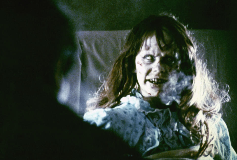 American actress Linda Blair on the set of The Exorcist, based on the novel by William Peter Blatty and directed by William Friedkin. (Photo by Warner Bros. Pictures/Sunset Boulevard/Corbis via Getty Images)