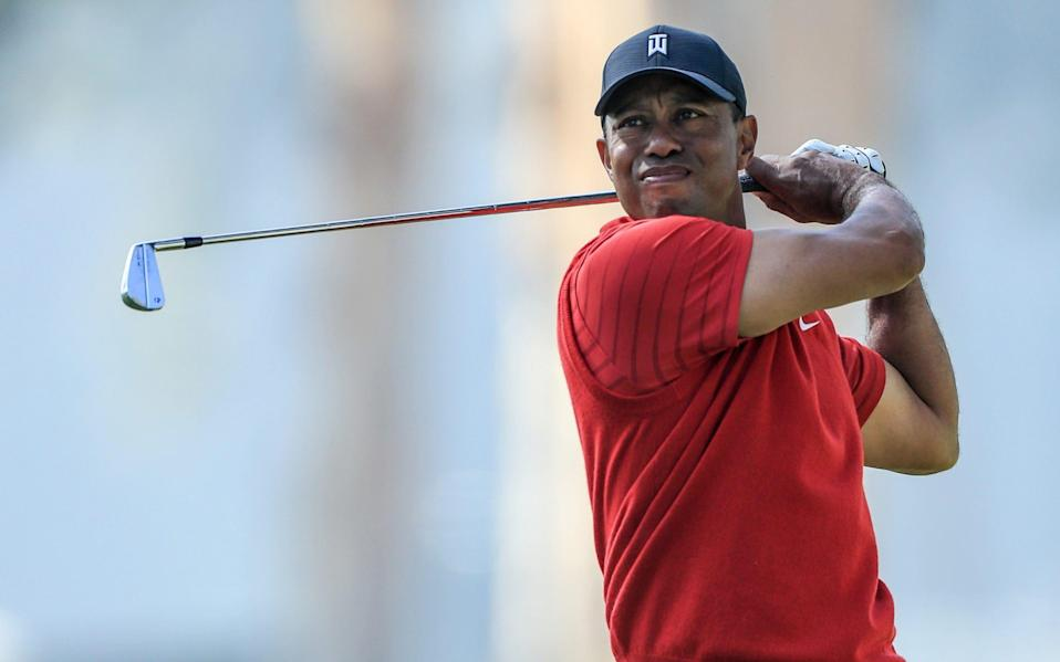 Woods, 45, was in California for a two-day shoot with Golf Digest/GOLFTV - GETTY