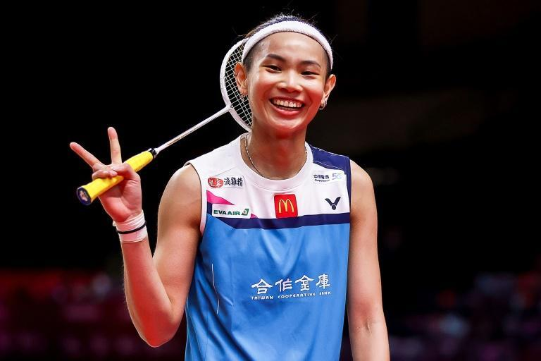 Taiwan's Tai Tzu-ying, shown here on Wednesday, has booked her place in the badminton World Tour Finals' semi-final after beating Ratchanok Intanon