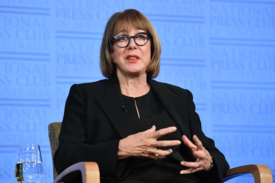 Epidemiologist Mary-Louise McLaws at the National Press Club in Canberra.