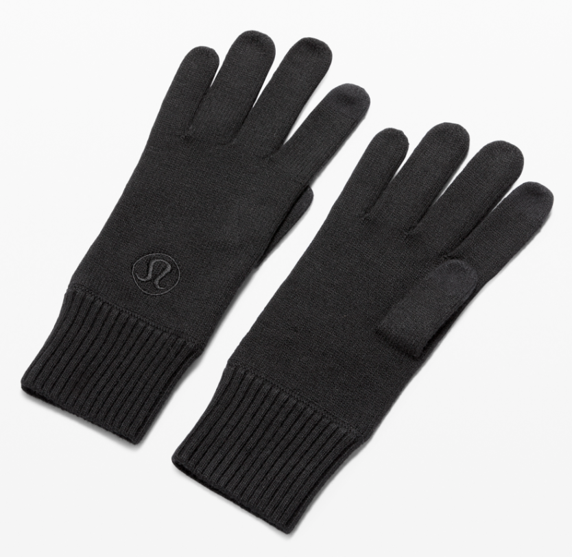 Lululemon Warm Revelation Tech Gloves in Black