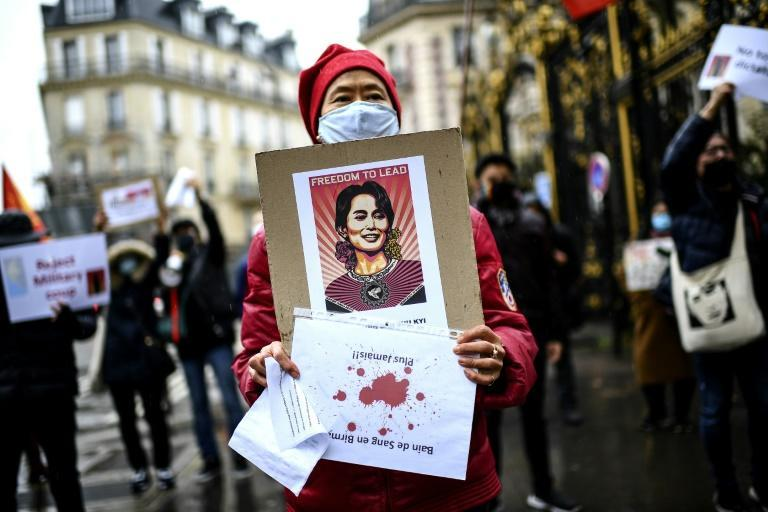 There have been demonstrations in Paris and other global cities against the coup