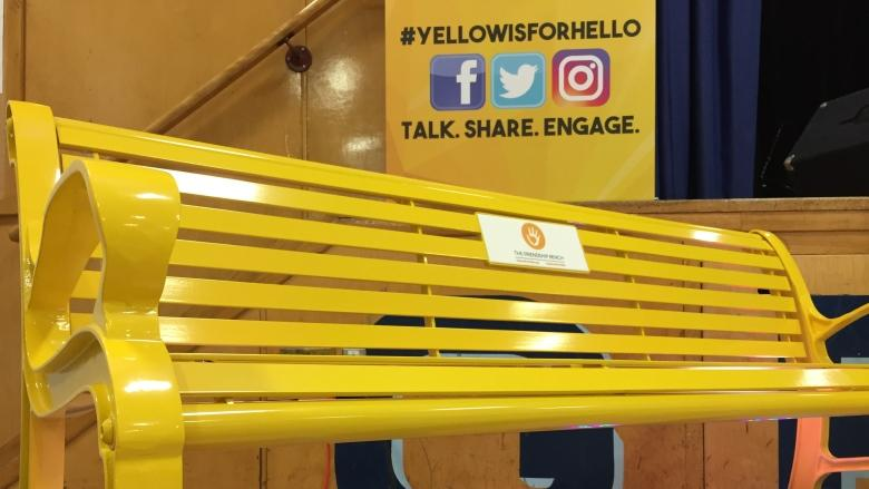 Yellow bench invites friendship, mental health help at Grant Park High School