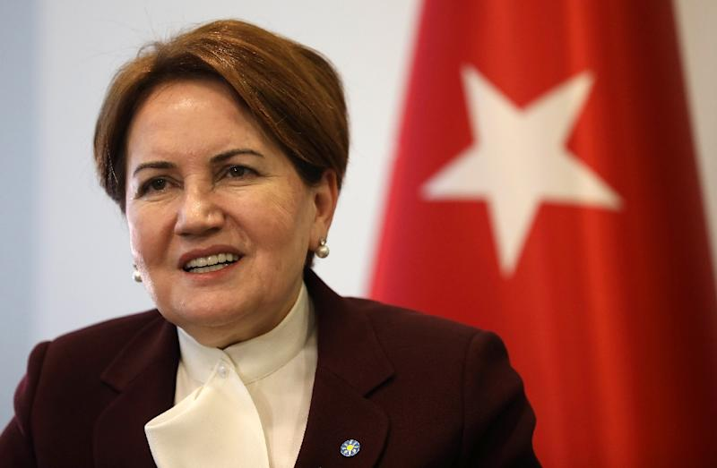 "Turkey's Iyi (""Good"") Party chairman Meral Aksener, the country's first female interior minister between 1996 and 1997, says she is likely to stand against President Recep Tayyip Erdogan in 2019 elections (AFP Photo/Adem ALTAN)"