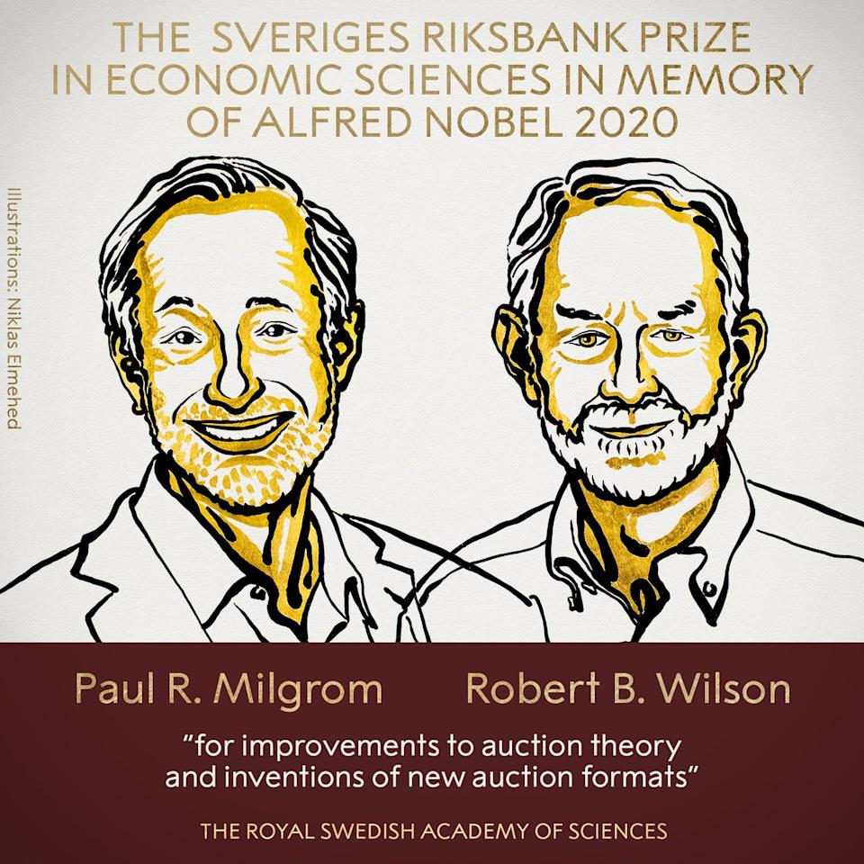 The winners of the Nobel Prize in economic sciences have been announced. Photo: Nobel Prize