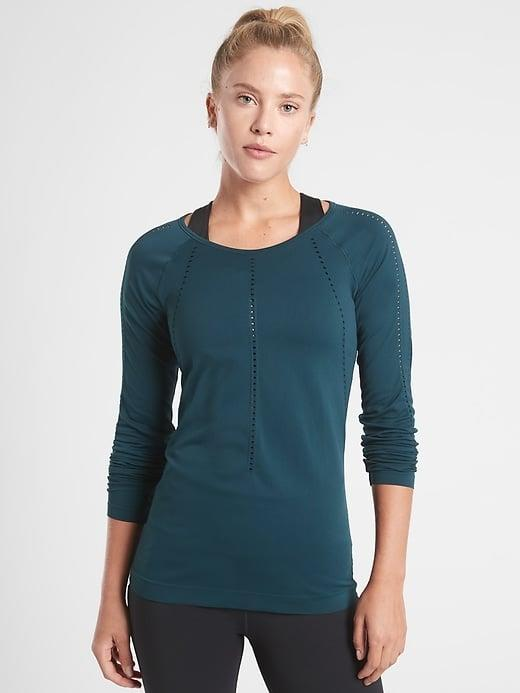 <p>Slip on this <span>Athleta Foothill Long Sleeve</span> ($44-$59, originally $59) for your favorite mat workout, and the mesh ventilation will be there to keep you cool.</p>