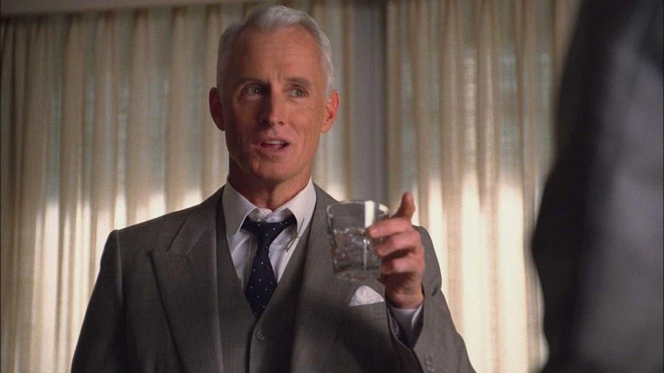<p>Roger Sterling's greatest characteristic above his wits is being a people person, which heavily drives the success of the company. He often found himself regretting his words instead of thinking before he spoke, which would get him into trouble. With a prickly exterior, constant wisecracks and a wry smile, viewers soon learned that beneath the layers he loves and cares deeply for the people around him. He was a brother to Don Draper, and without their bond throughout the show, we don't think Don could have survived.</p>
