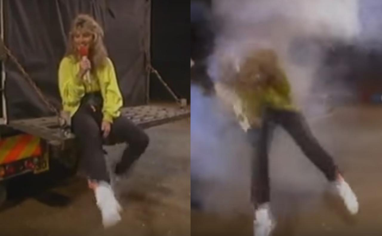 <p>It was during a segment from the Royal Tournament in 1988 for short-lived children's magazine show 'UP2U' that Anthea Turner had a run-in with a motorbike. Sitting on the tailgate of a lorry, the bike shot out of the back, sparks briefly setting her hair alight. She suffered burns and temporary hearing loss, and successfully sued the BBC.</p>