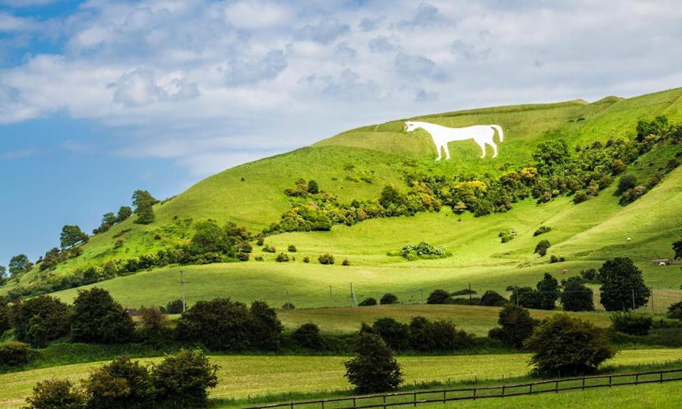 Ramble up to the Westbury White Horse: the Three Daggers, Wiltshire.