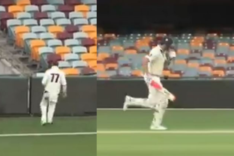 WATCH: Australian Batsman Keeps Running Even After Ball Crosses Boundary