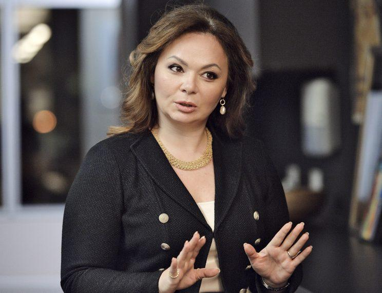 In this photo taken on Tuesday, Nov. 8, 2016, Kremlin-linked lawyer Natalia Veselnitskaya speaks to a journalist in Moscow, Russia. President Donald Trump's eldest son changed his account of the meeting he had with a Russian lawyer during the 2016 campaign over the weekend, saying Sunday July 9, 2017, that Natalia Veselnitskaya told him she had information about Clinton. A statement from Donald Trump Jr. one day earlier made no mention of Clinton. (Photo: Yury Martyanov /Kommersant Photo via AP)
