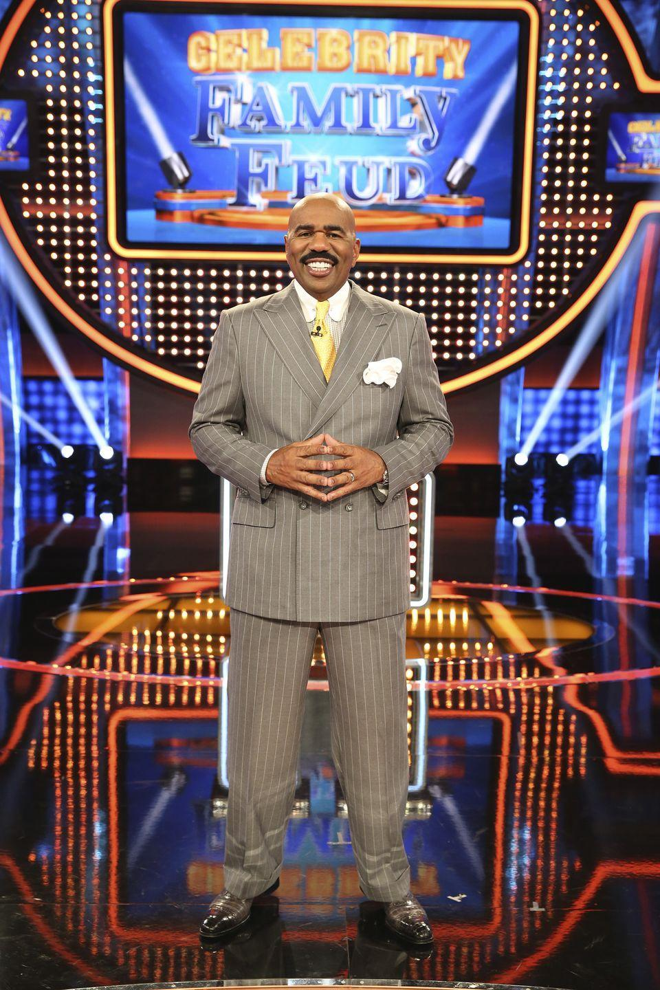 <p>Steve Harvey took over hosting duties for the show in 2010. Harvey is a successful standup comedian, author, actor and host. He's known for his work on the popular music show <em>Showtime at the Apollo. </em>In 2015, ABC called for <em>Celebrity Family Feud, </em>a primetime spin-off hosting celebrity families and friends. Both versions of the popular show have been renewed.</p>