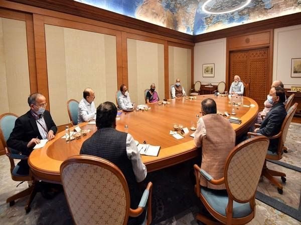 Visual of meeting chaired by PM Modi (Photo/ANI)