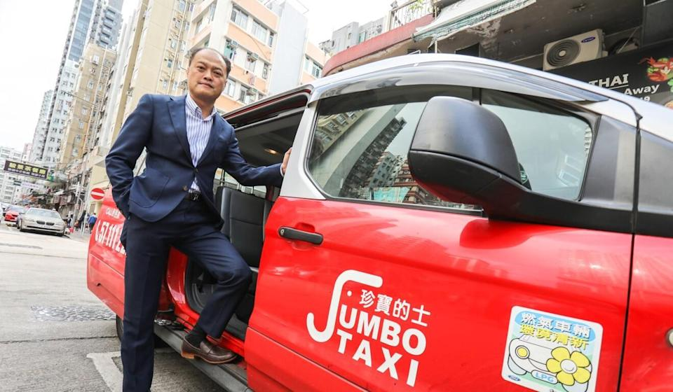 Jumbo Taxi managing director Chau Kwok-keung is one of the main driving forces behind a new push for six-seater taxis. 08FEB21. Photo: May Tse