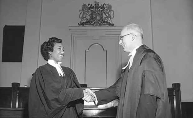 Violet King was the first Black person admitted to the Alberta bar in 1954 and became the first Black female lawyer in Canada. (Glenbow Archives - image credit)