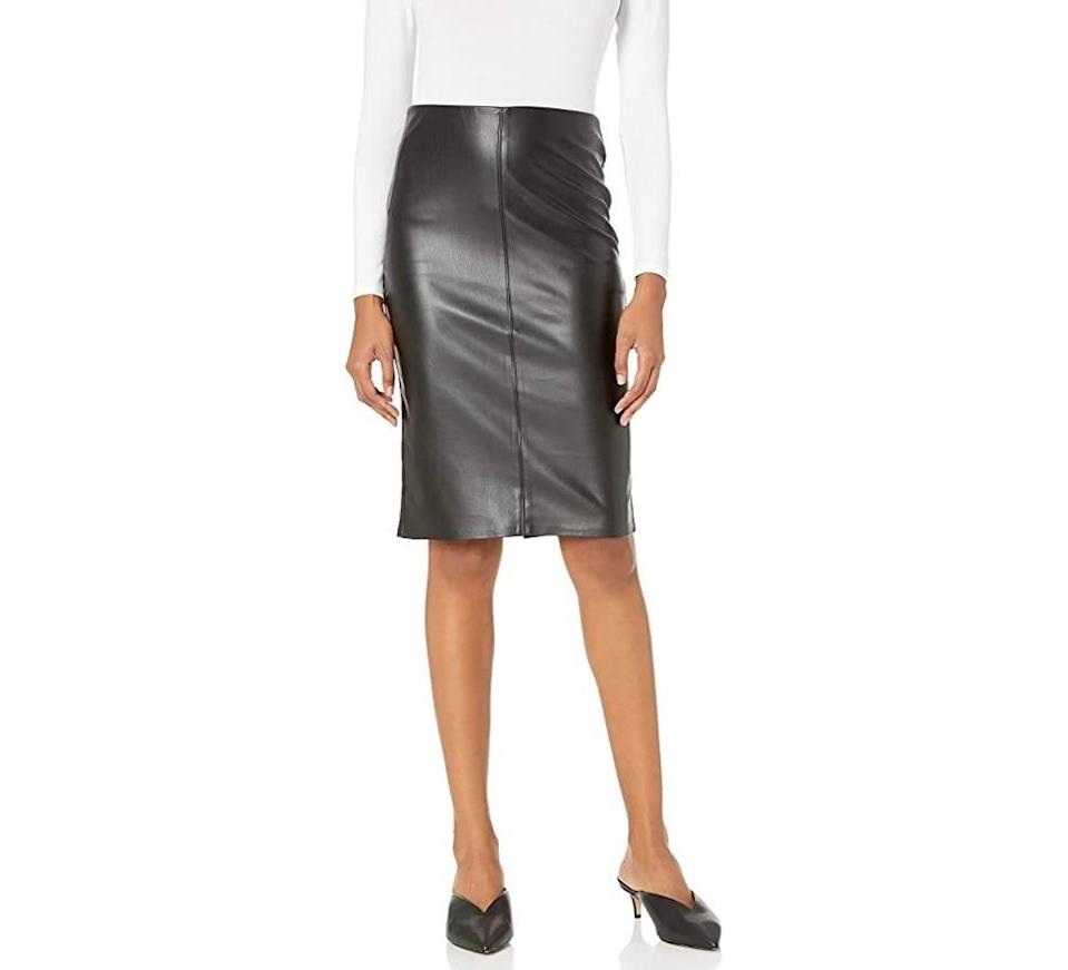 The Drop Women's Rachel Faux Leather Pull On Pencil Skirt (Photo: Amazon)