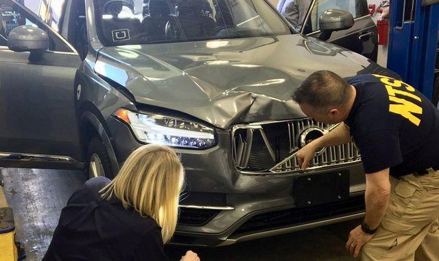 Uber safety driver charged over death of pedestrian who was struck by self-driving car